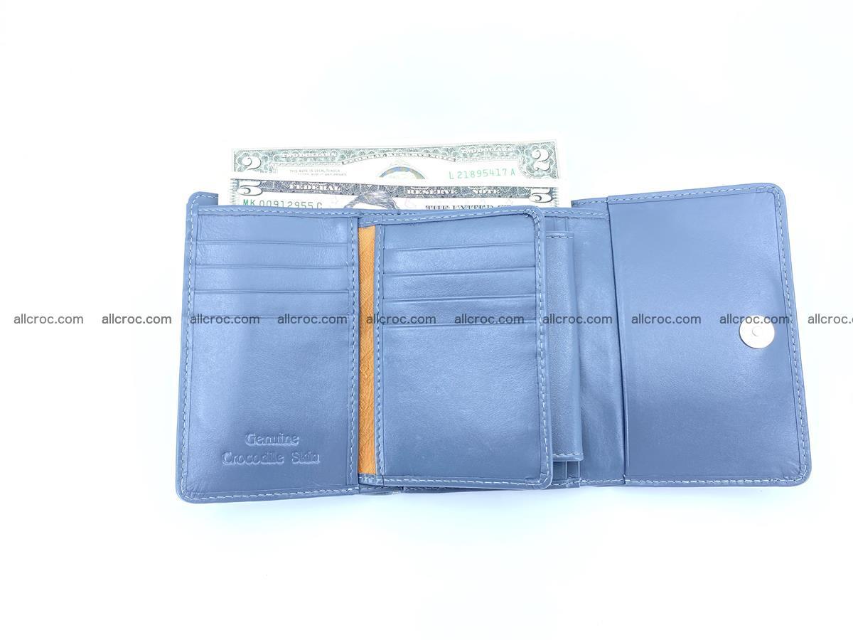 Siamese crocodile skin wallet for women, trifold medium size 431 Foto 7