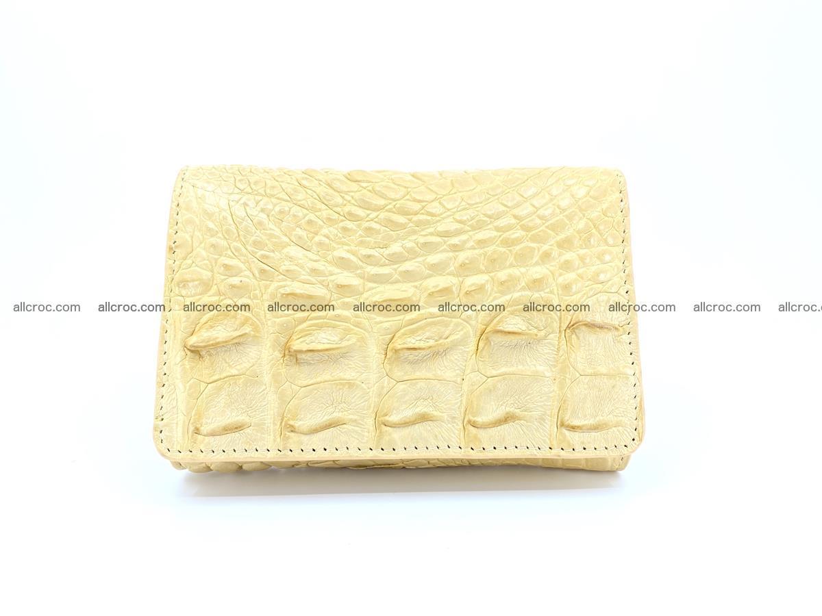 Siamese crocodile skin wallet for women, trifold medium size 427 Foto 0