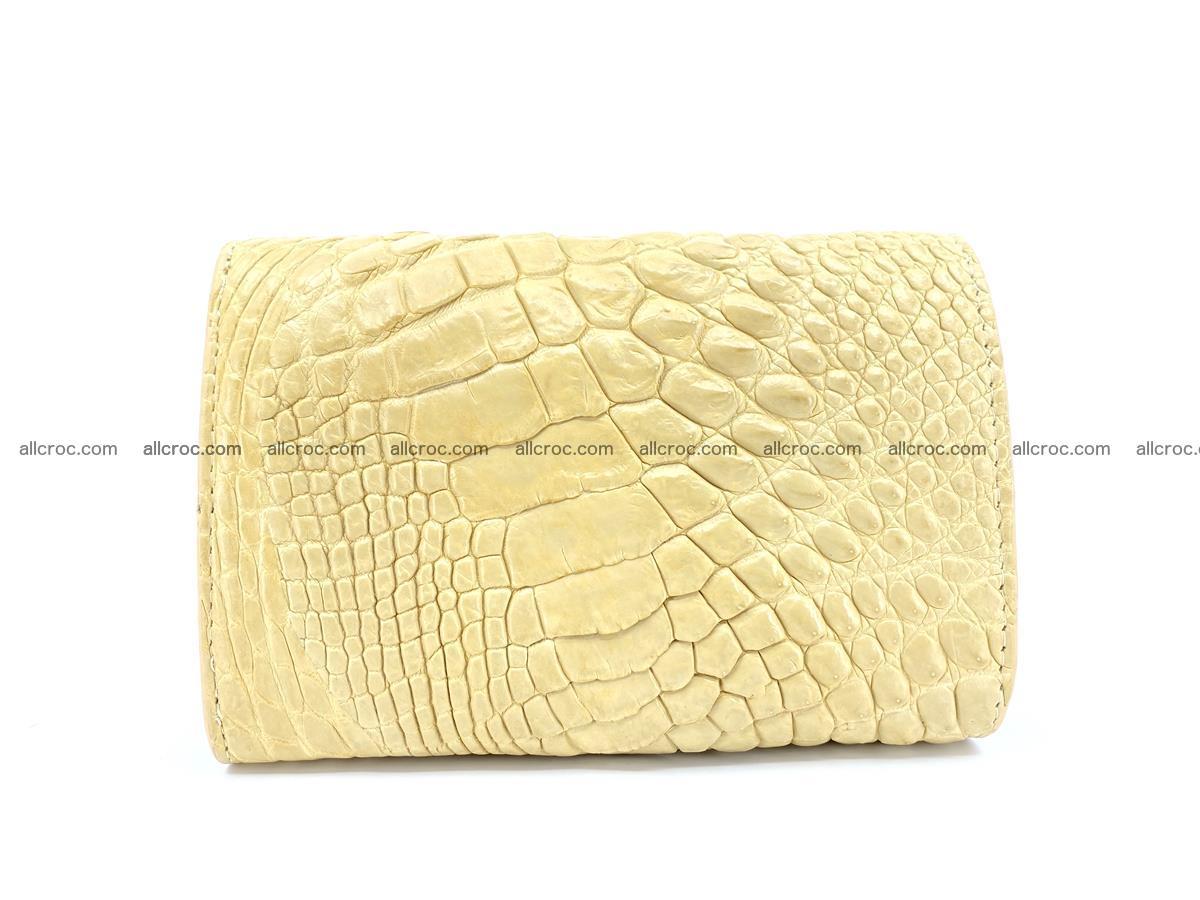 Siamese crocodile skin wallet for women, trifold medium size 427 Foto 1