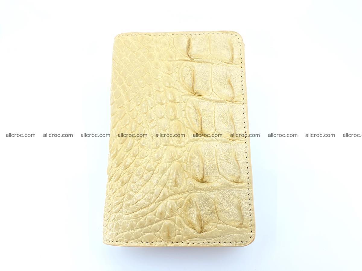 Siamese crocodile skin wallet for women, trifold medium size 427 Foto 2