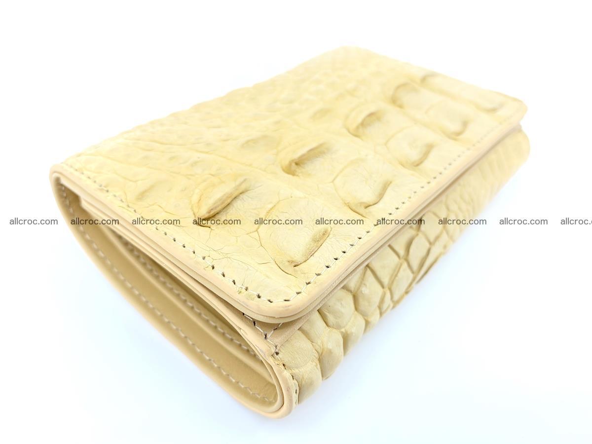 Siamese crocodile skin wallet for women, trifold medium size 427 Foto 4
