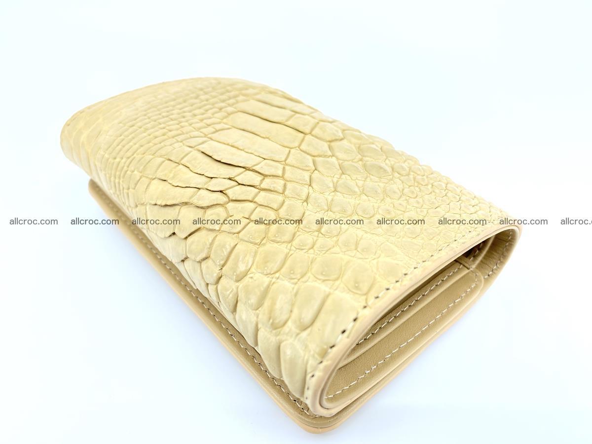 Siamese crocodile skin wallet for women, trifold medium size 427 Foto 5