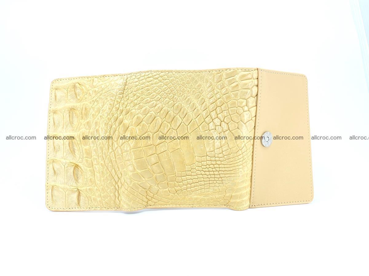 Siamese crocodile skin wallet for women, trifold medium size 427 Foto 9