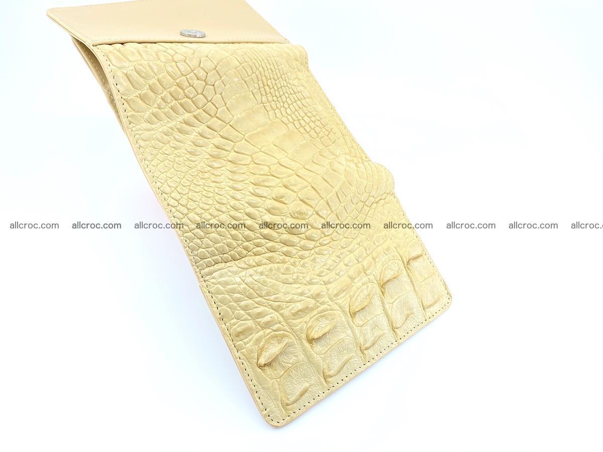 Siamese crocodile skin wallet for women, trifold medium size 427 Foto 8