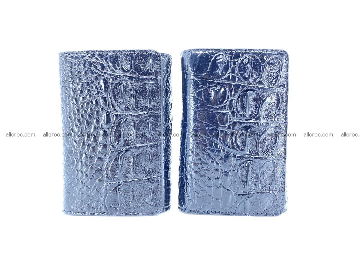 Siamese crocodile skin wallet for women, trifold medium size 429 Foto 10