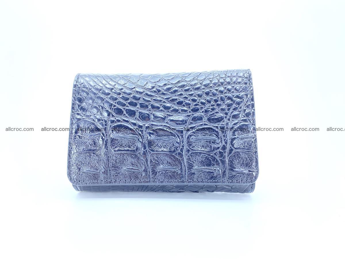 Siamese crocodile skin wallet for women, trifold medium size 429 Foto 0