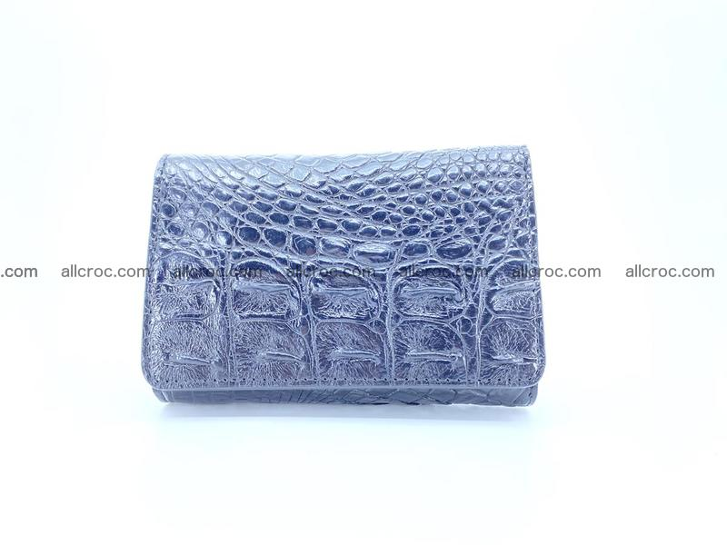 Siamese crocodile skin wallet for women, trifold medium size 429