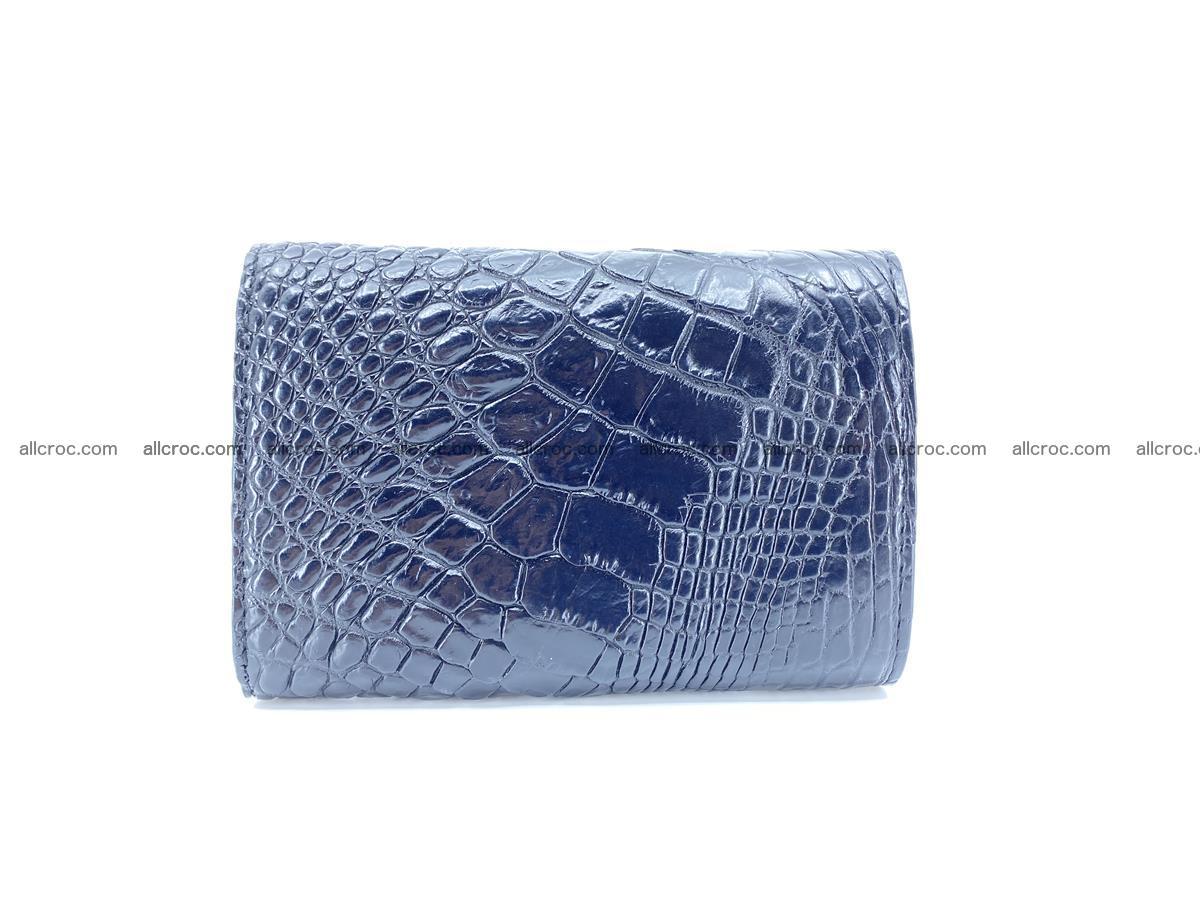 Siamese crocodile skin wallet for women, trifold medium size 429 Foto 1