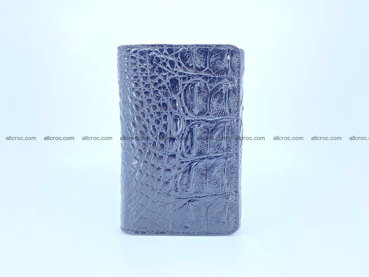 Siamese crocodile skin wallet for women, trifold medium size 429 Foto 2