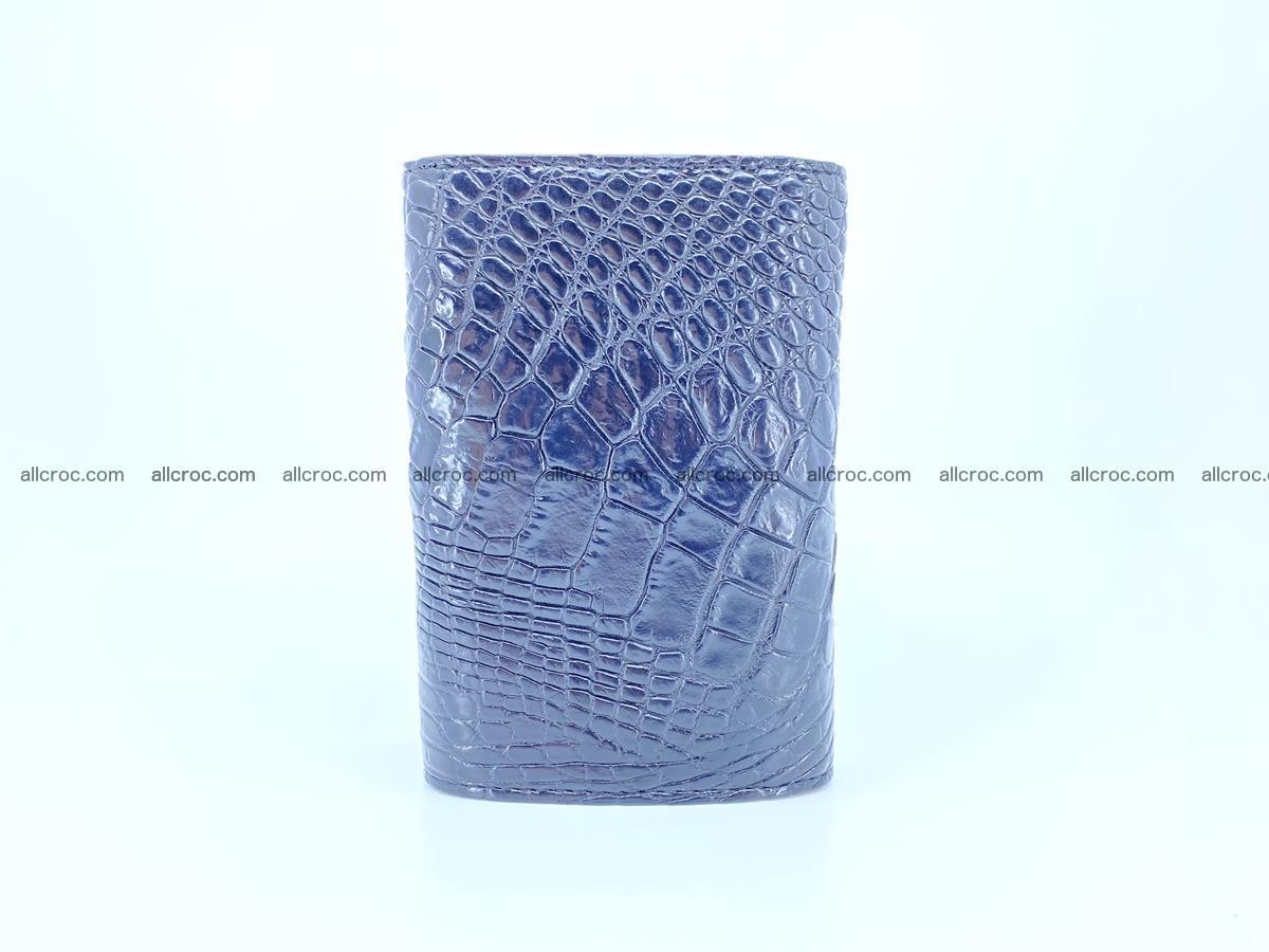 Siamese crocodile skin wallet for women, trifold medium size 429 Foto 3