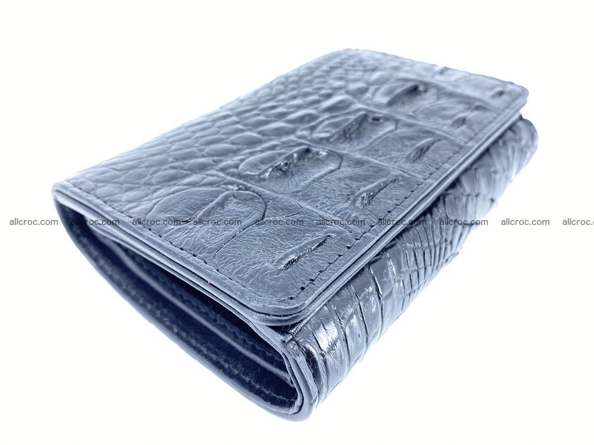 Siamese crocodile skin wallet for women, trifold medium size 429 Foto 4