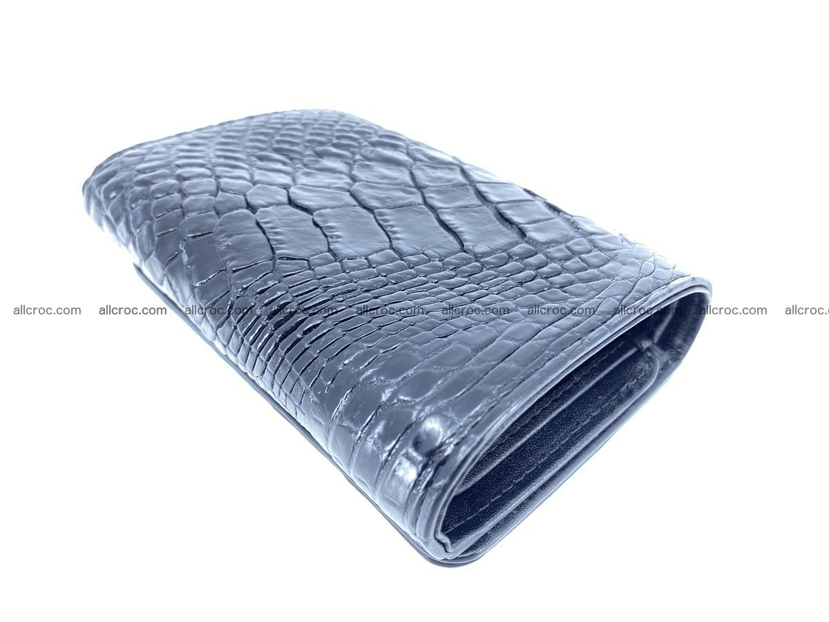 Siamese crocodile skin wallet for women, trifold medium size 429 Foto 5