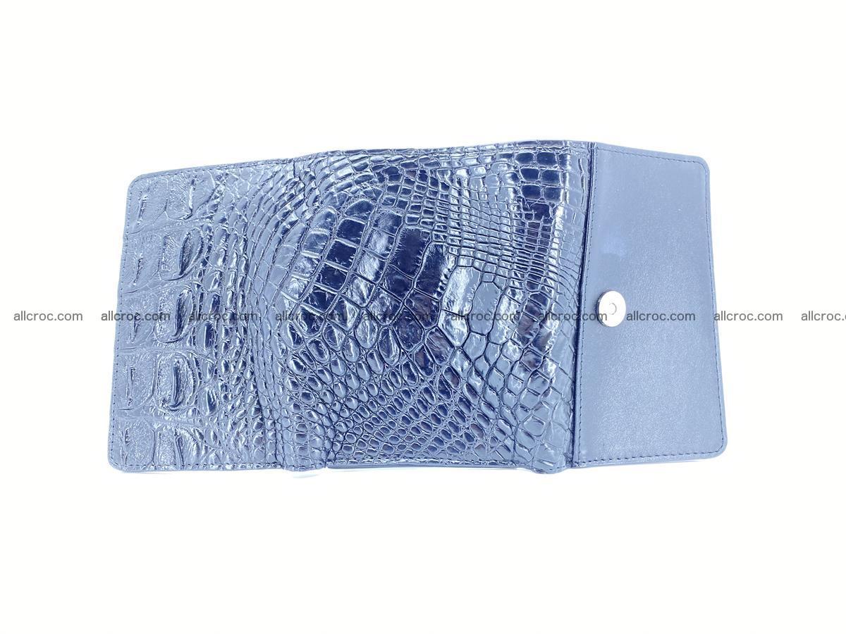 Siamese crocodile skin wallet for women, trifold medium size 429 Foto 8