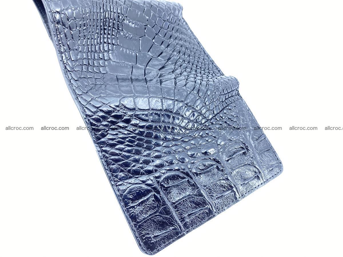 Siamese crocodile skin wallet for women, trifold medium size 429 Foto 9