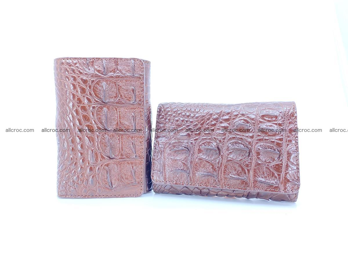 Siamese crocodile skin wallet for women, trifold medium size 428 Foto 11