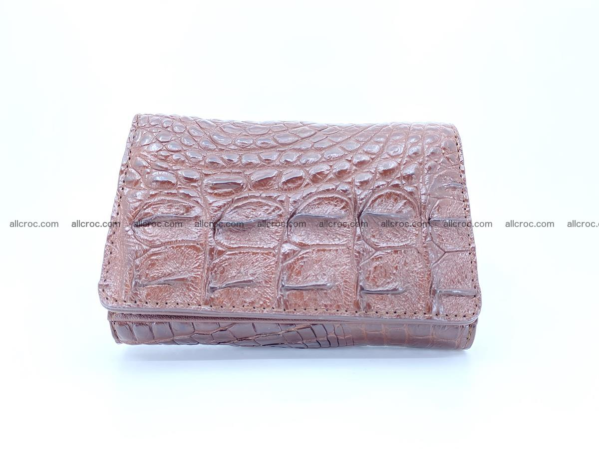 Siamese crocodile skin wallet for women, trifold medium size 428 Foto 0