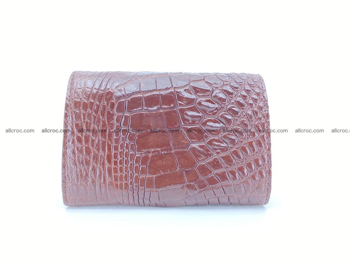 Siamese crocodile skin wallet for women, trifold medium size 428 Foto 1