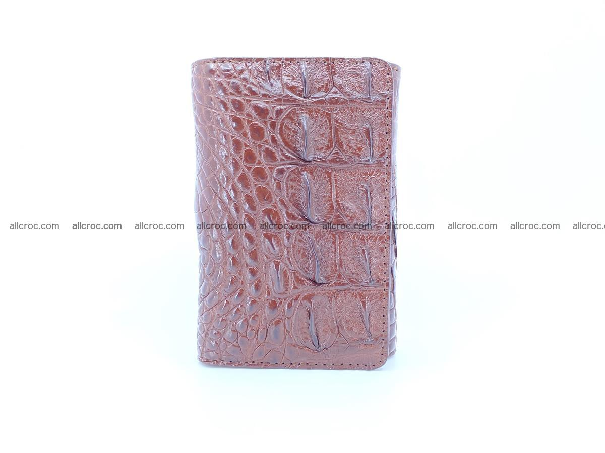 Siamese crocodile skin wallet for women, trifold medium size 428 Foto 2