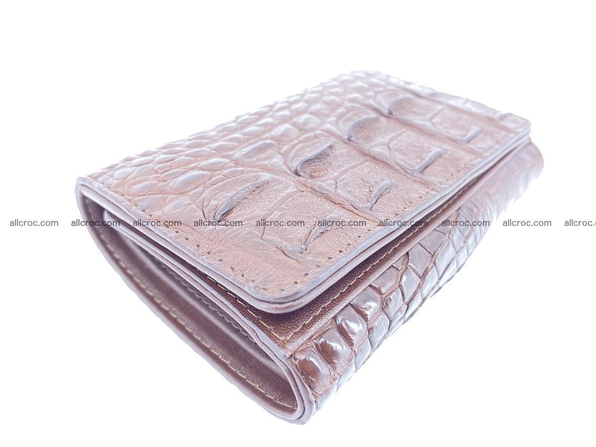 Siamese crocodile skin wallet for women, trifold medium size 428 Foto 4