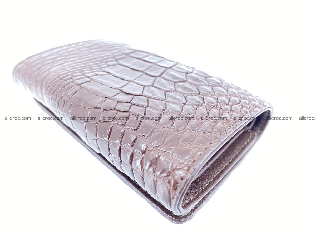 Siamese crocodile skin wallet for women, trifold medium size 428 Foto 5