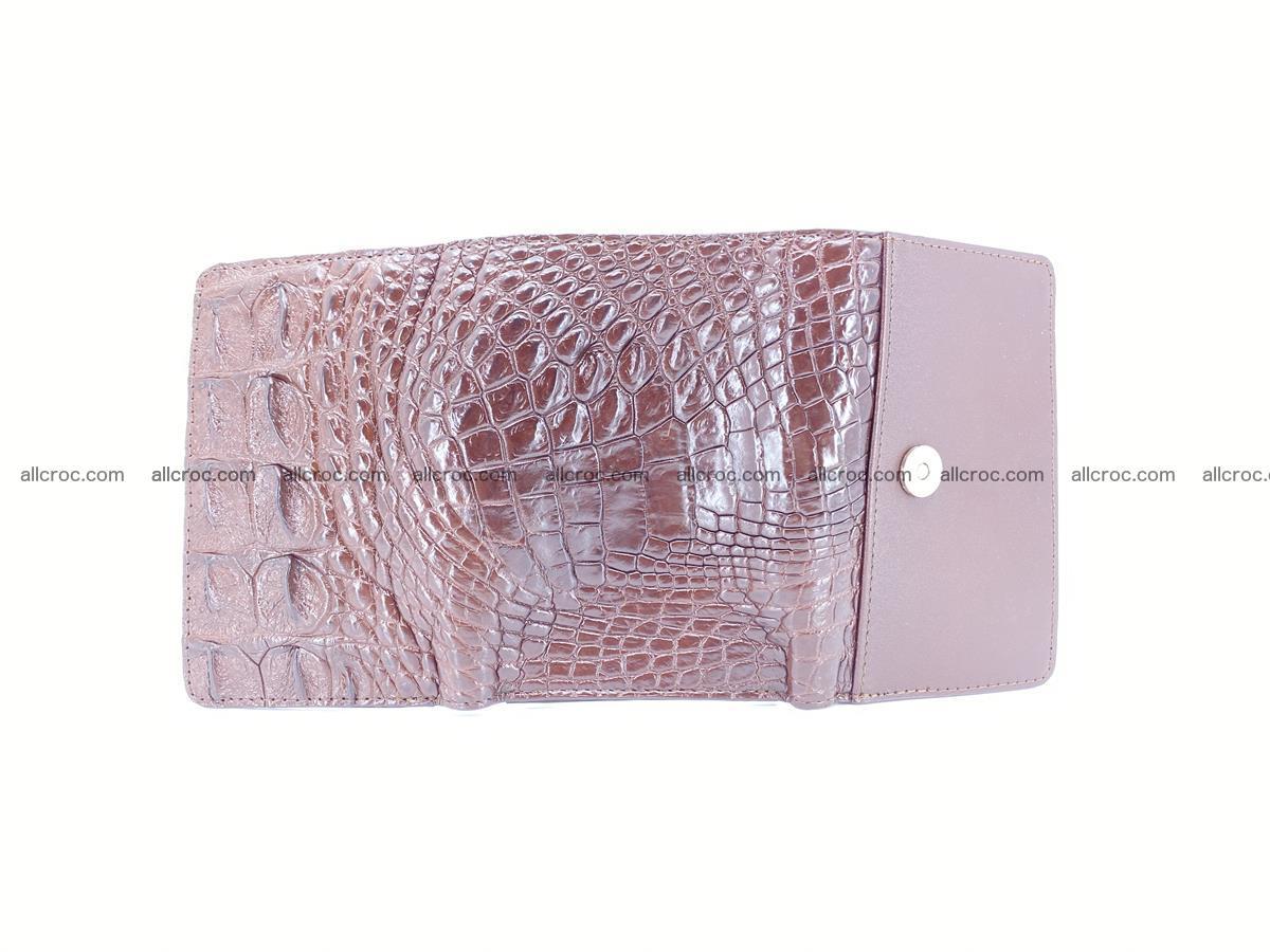 Siamese crocodile skin wallet for women, trifold medium size 428 Foto 9