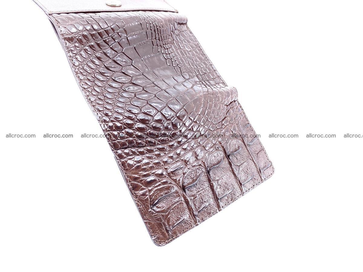 Siamese crocodile skin wallet for women, trifold medium size 428 Foto 8
