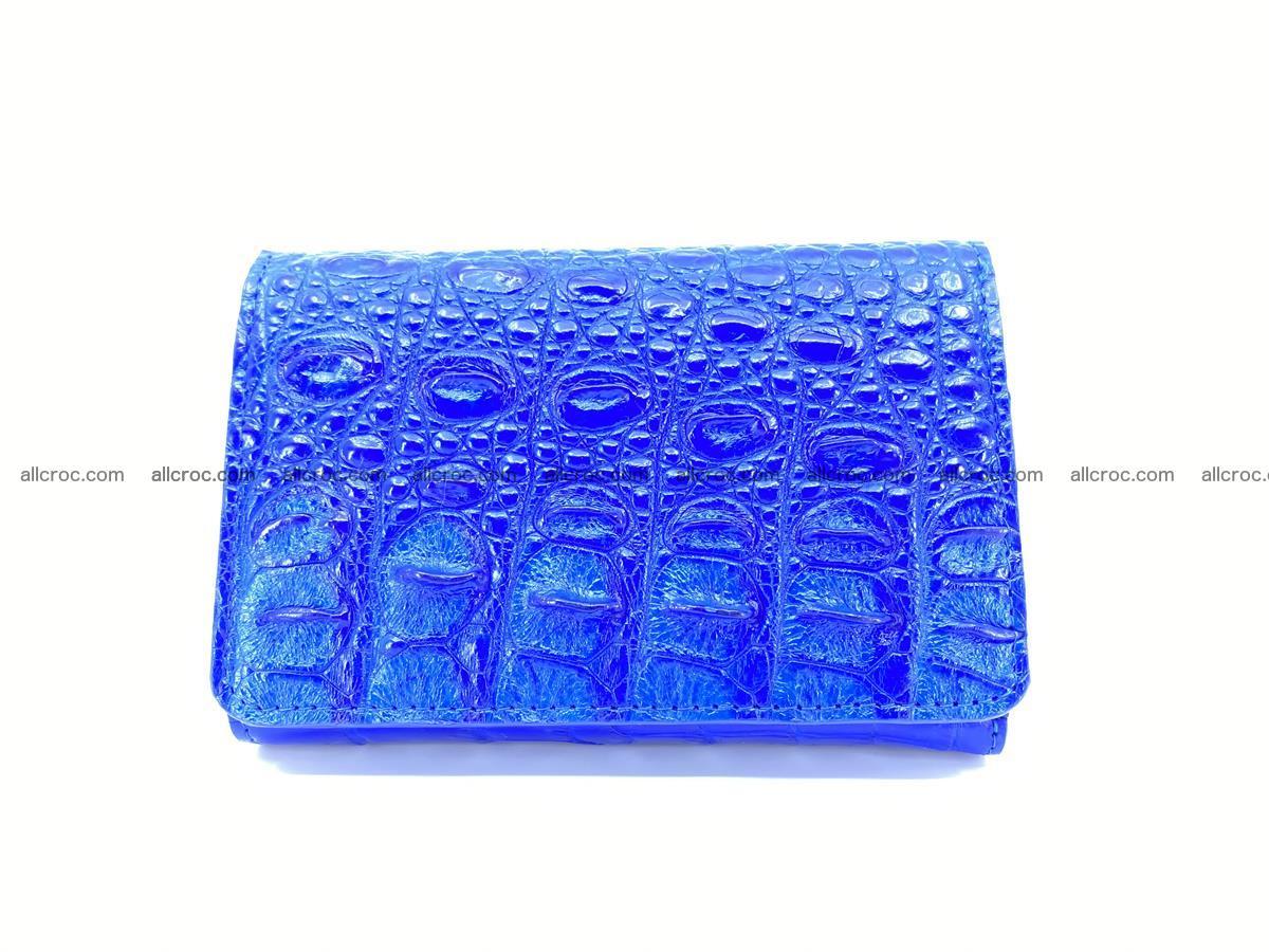 Siamese crocodile skin wallet for women, trifold medium size 430 Foto 0