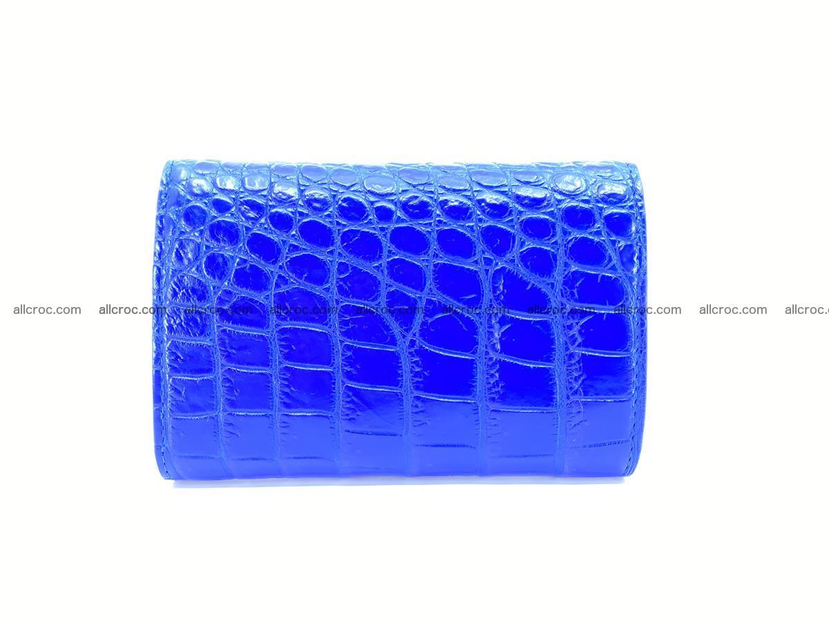 Siamese crocodile skin wallet for women, trifold medium size 430 Foto 1