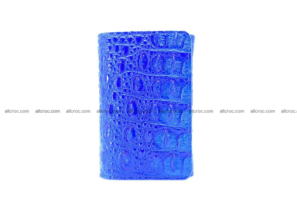 Siamese crocodile skin wallet for women, trifold medium size 430 Foto 2