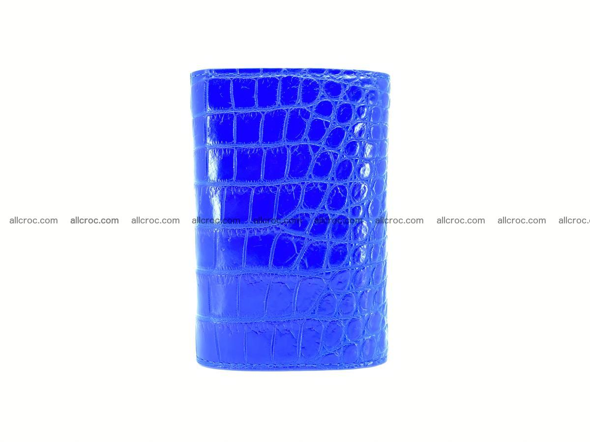 Siamese crocodile skin wallet for women, trifold medium size 430 Foto 3