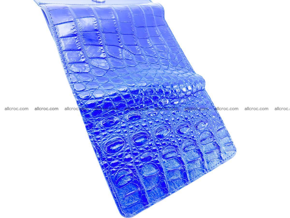 Siamese crocodile skin wallet for women, trifold medium size 430 Foto 10