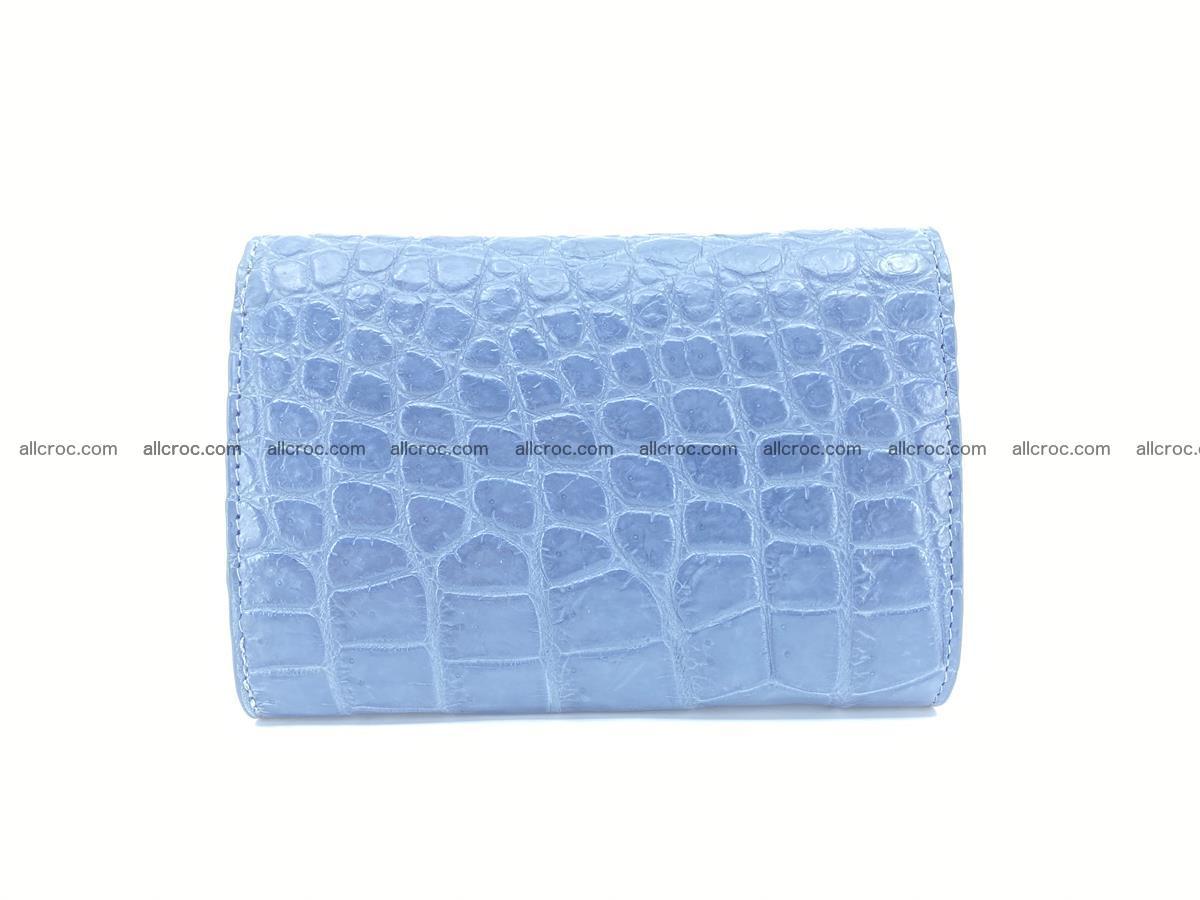 Siamese crocodile skin wallet for women, trifold medium size 431 Foto 1