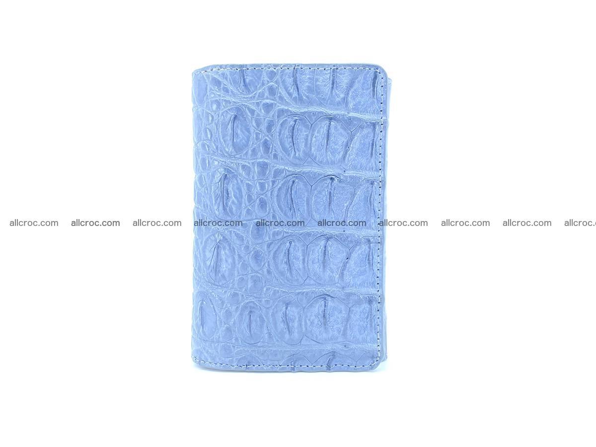 Siamese crocodile skin wallet for women, trifold medium size 431 Foto 2
