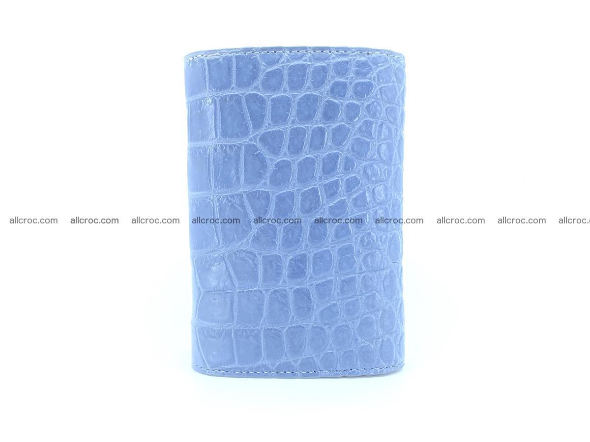 Siamese crocodile skin wallet for women, trifold medium size 431 Foto 3