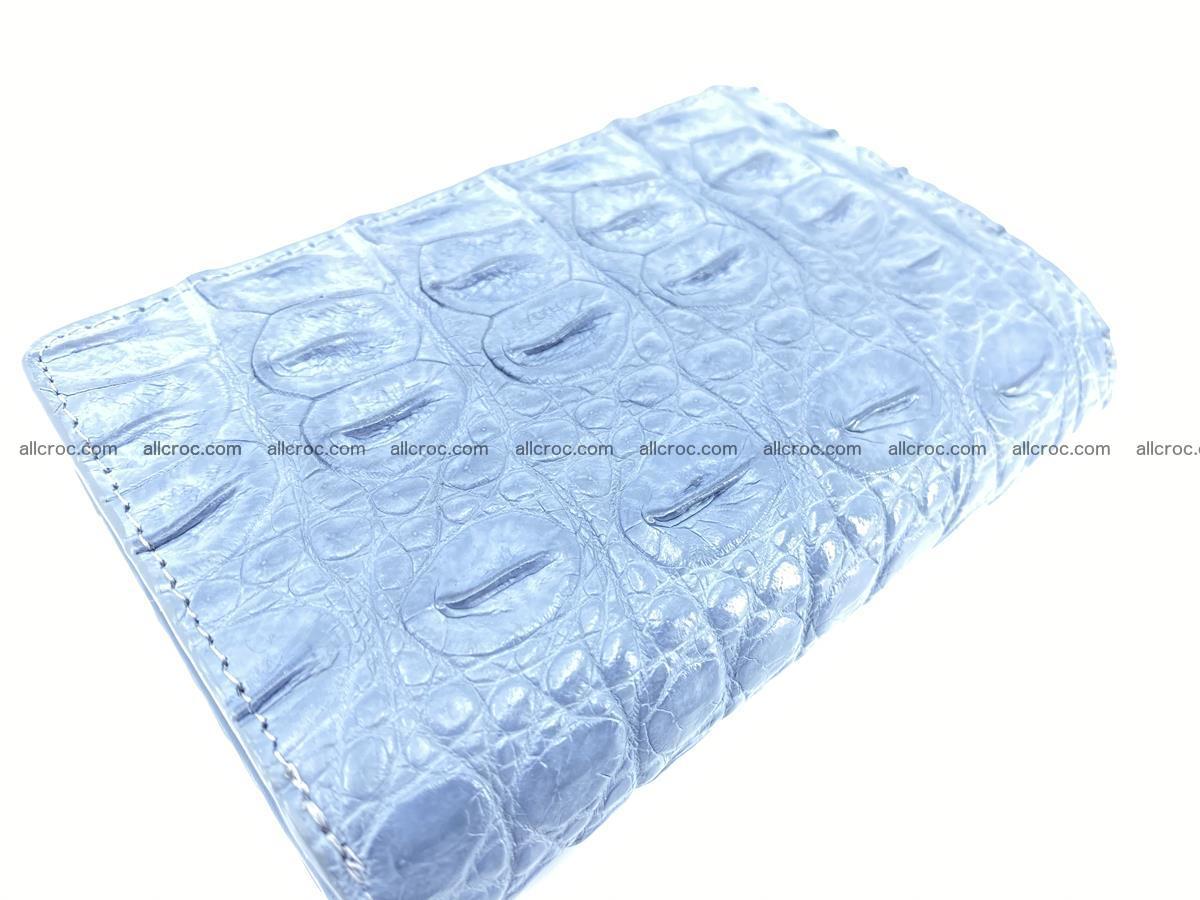 Siamese crocodile skin wallet for women, trifold medium size 431 Foto 5