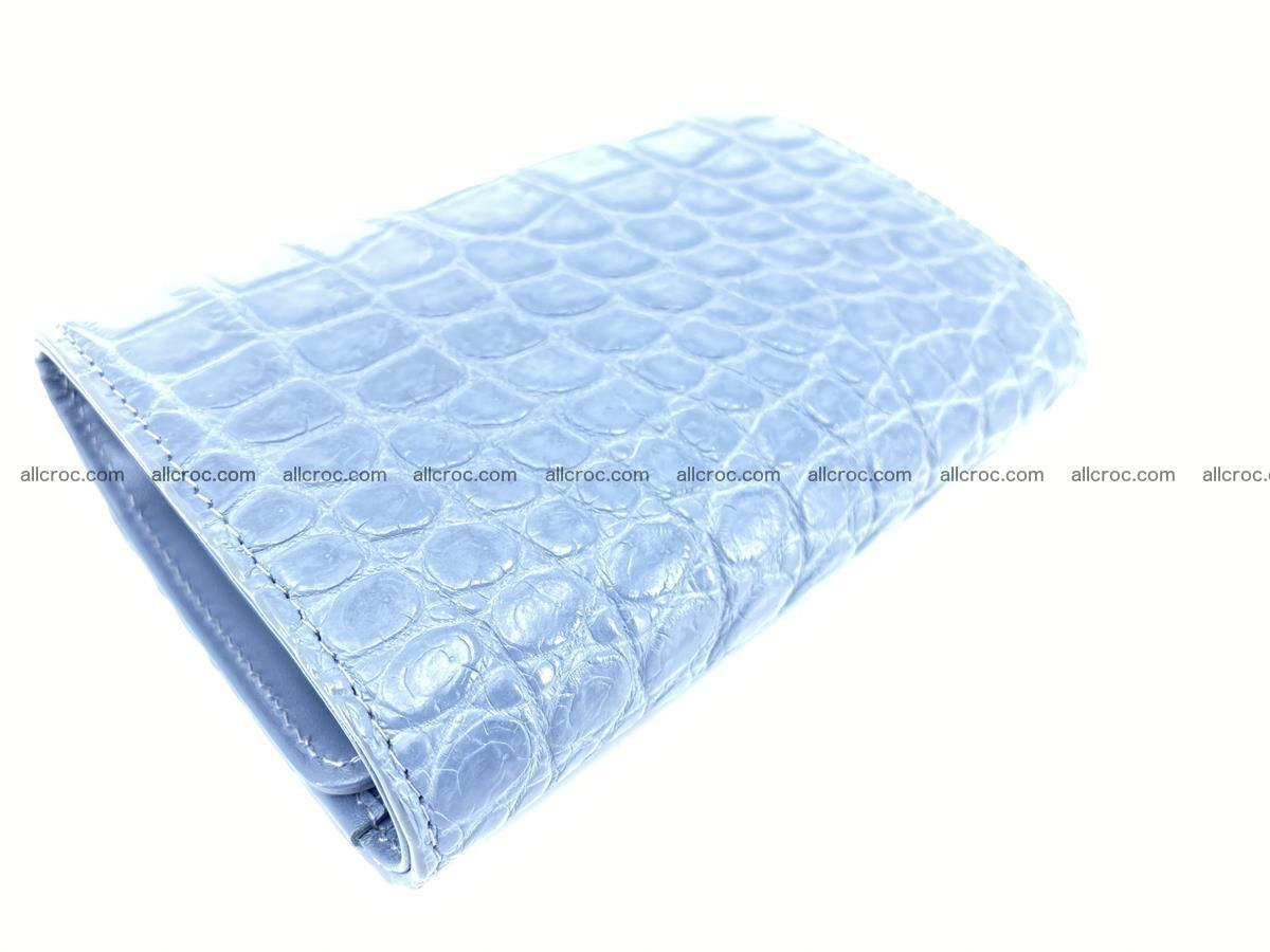 Siamese crocodile skin wallet for women, trifold medium size 431 Foto 6