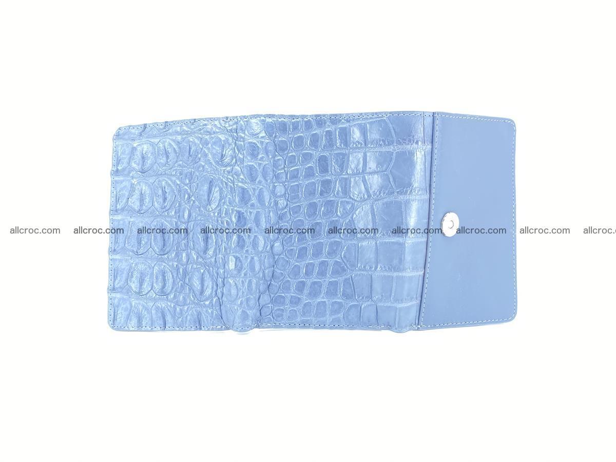 Siamese crocodile skin wallet for women, trifold medium size 431 Foto 9