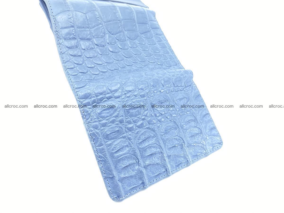 Siamese crocodile skin wallet for women, trifold medium size 431 Foto 10