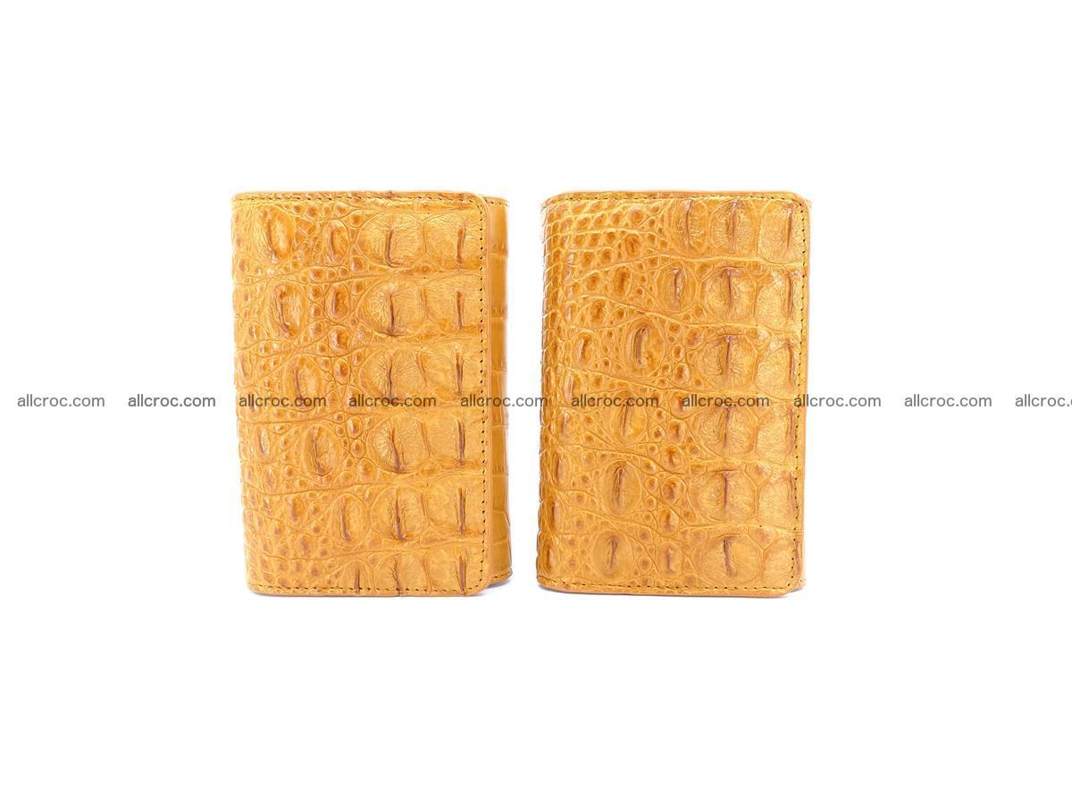 Siamese crocodile skin wallet for women, trifold medium size 432 Foto 12