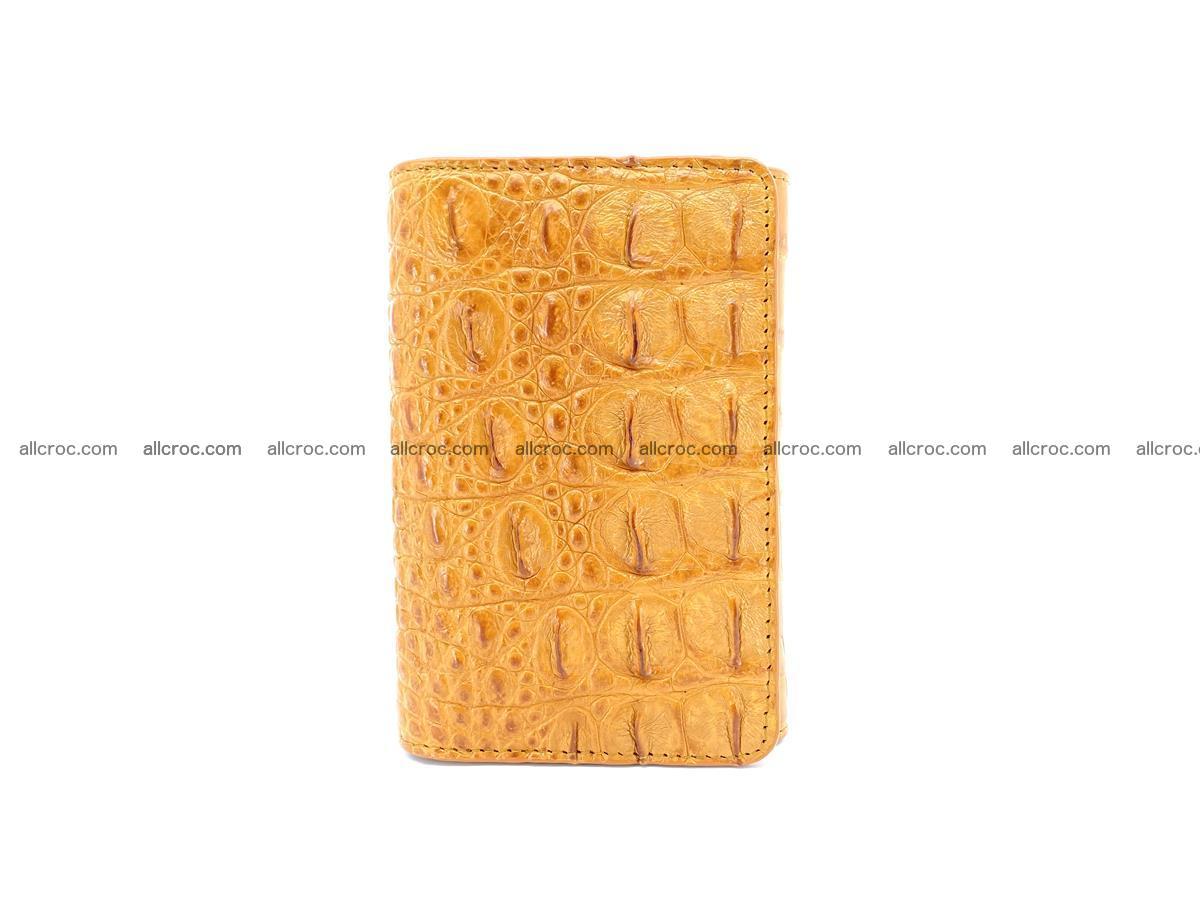 Siamese crocodile skin wallet for women, trifold medium size 432 Foto 2