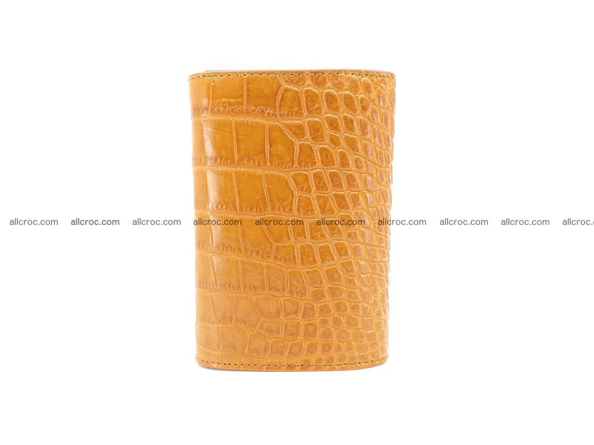 Siamese crocodile skin wallet for women, trifold medium size 432 Foto 3