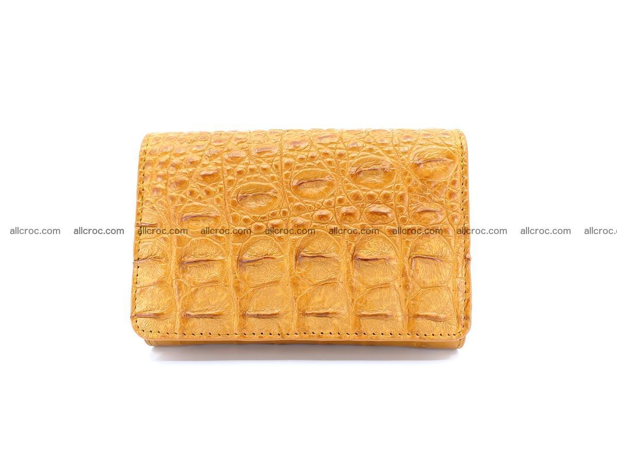 Siamese crocodile skin wallet for women, trifold medium size 432 Foto 0