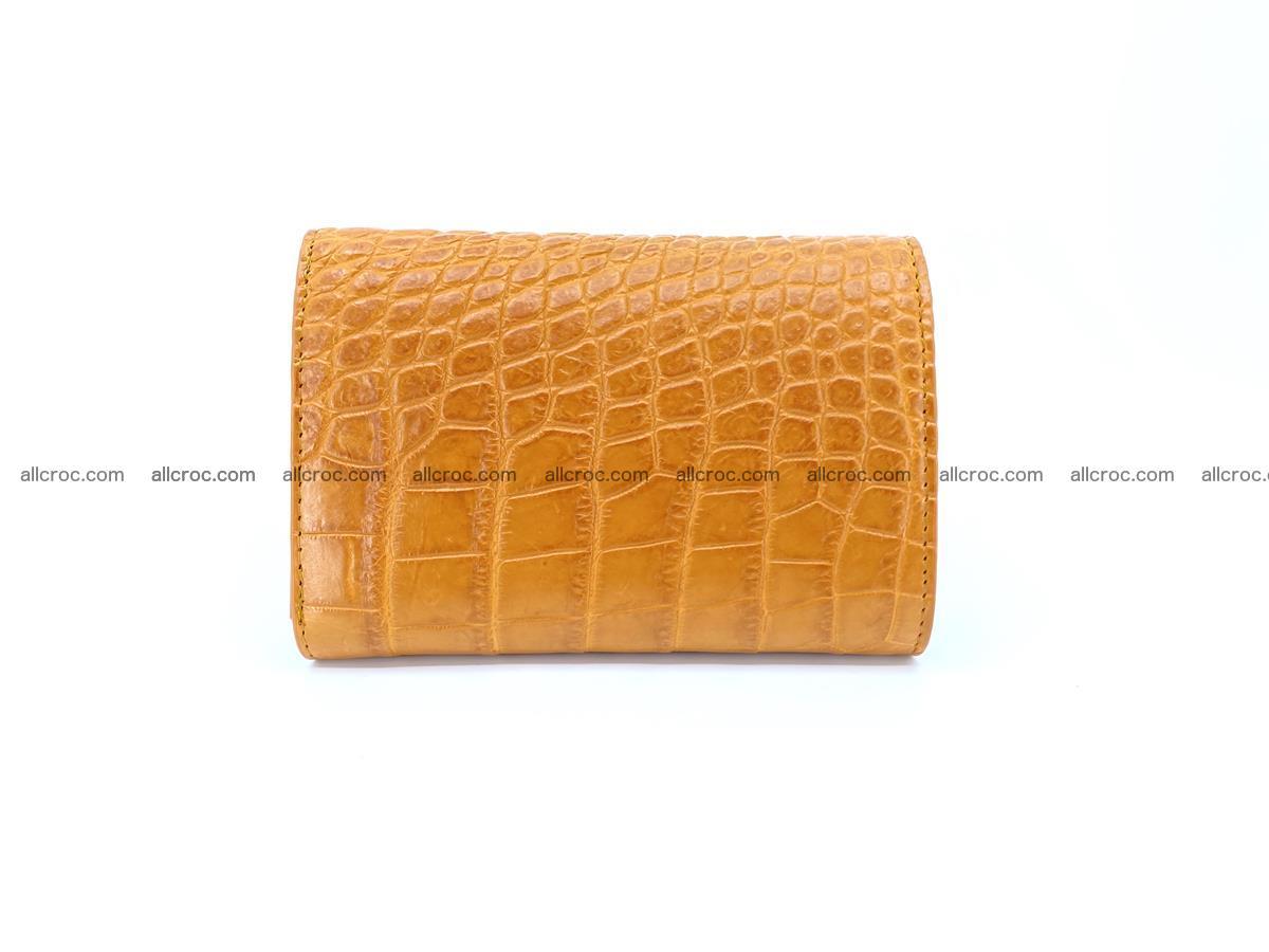 Siamese crocodile skin wallet for women, trifold medium size 432 Foto 1