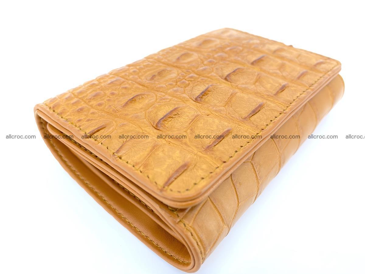 Siamese crocodile skin wallet for women, trifold medium size 432 Foto 4