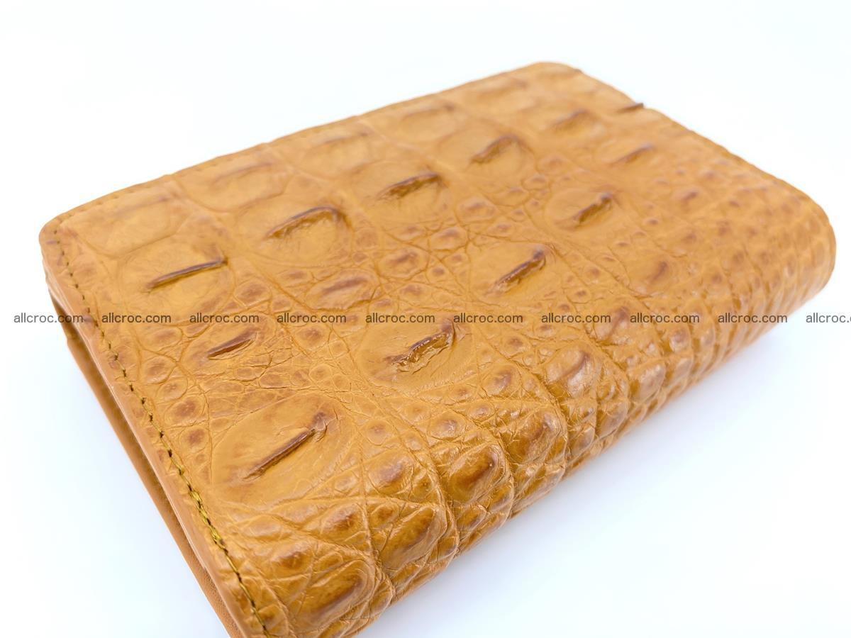 Siamese crocodile skin wallet for women, trifold medium size 432 Foto 5