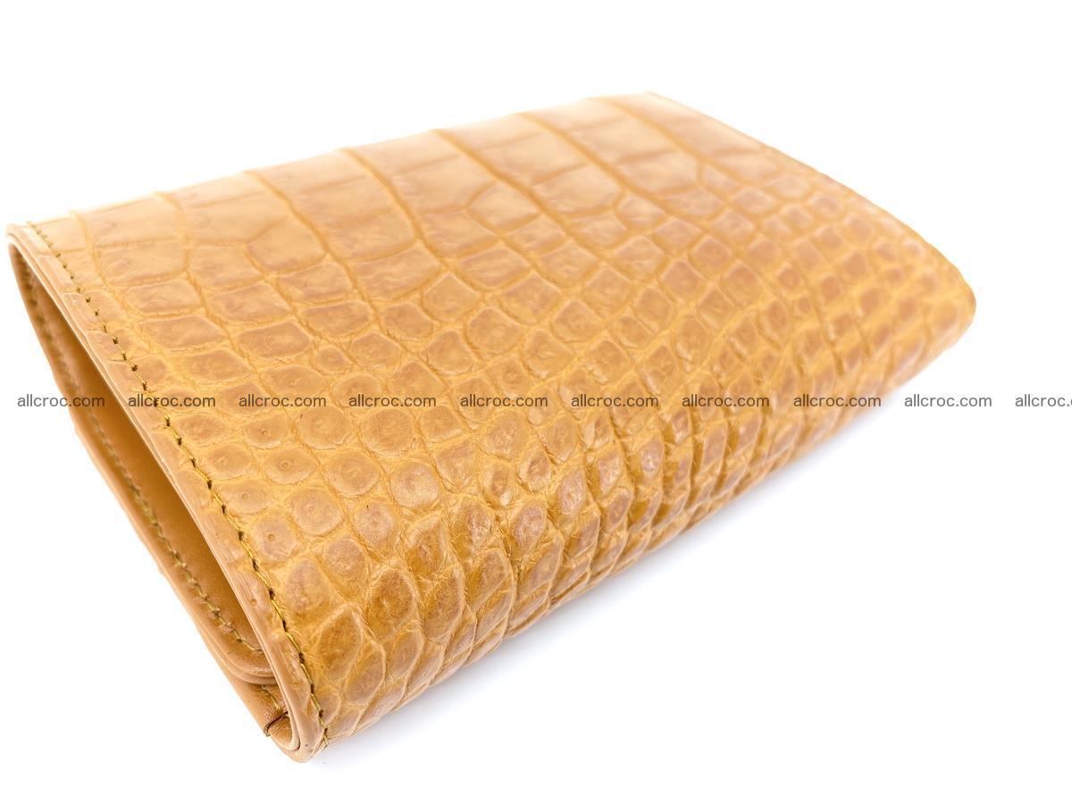 Siamese crocodile skin wallet for women, trifold medium size 432 Foto 6