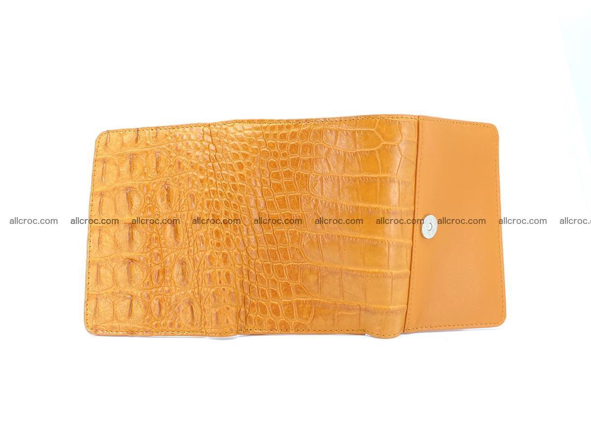 Siamese crocodile skin wallet for women, trifold medium size 432 Foto 9