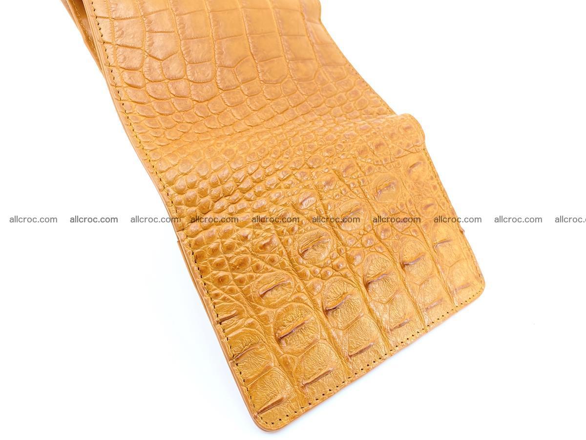 Siamese crocodile skin wallet for women, trifold medium size 432 Foto 10