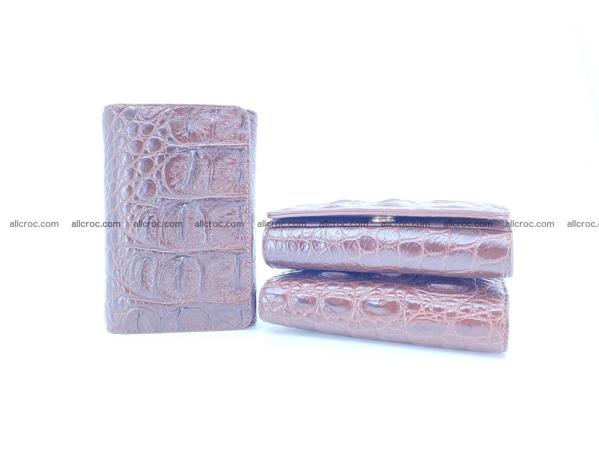 Siamese crocodile skin wallet for women, trifold medium size 433 Foto 11