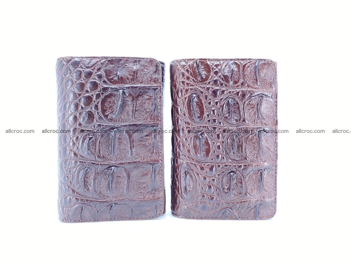 Siamese crocodile skin wallet for women, trifold medium size 433 Foto 12